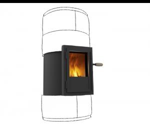 yocoon verbrandingstechniek in houtkachel