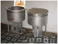 rocket stove gebruikt als warmtebron